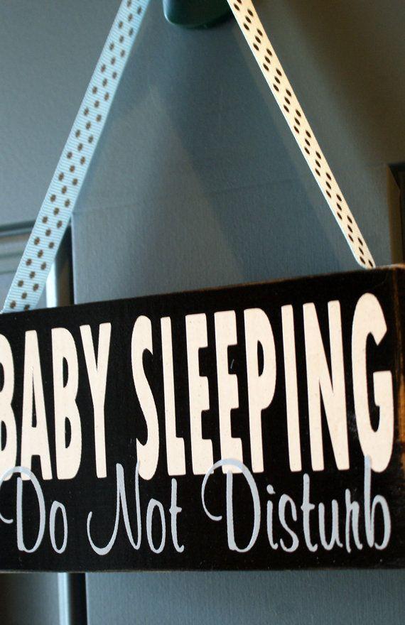Do not disturb baby sleeping door hanger custom by creativecatt mommy stuff - Diy do not disturb door hanger ...