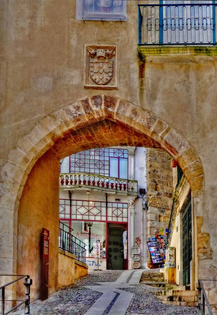 Coimbra ancient Door's archway in the Walls of the city
