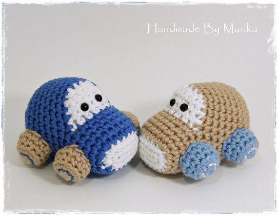 Crochet toy baby rattles