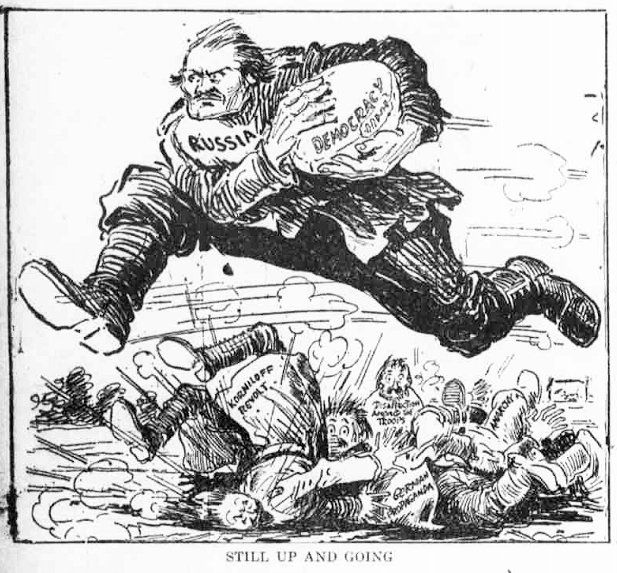 """Russia in Revolution on Twitter: """"Oct 8th 1917: """"Still up and going"""" (US cartoon). https://t.co/ZUKjCvcXhG"""""""
