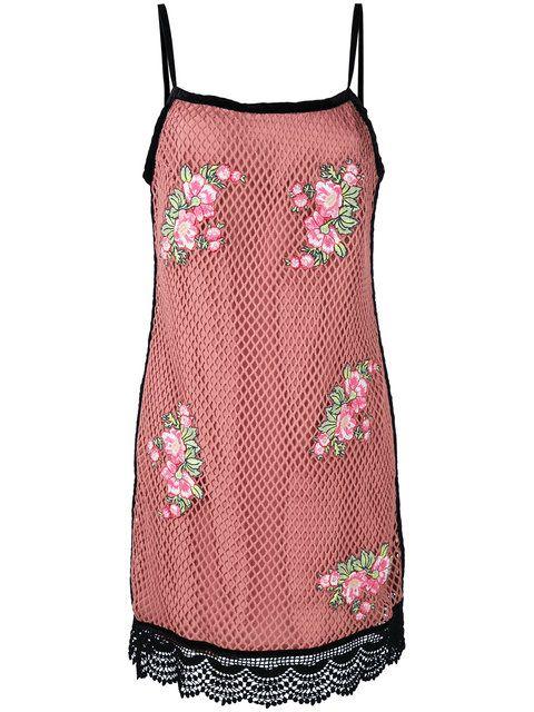 Купить House Of Holland сетчатое платье с вышивкой.