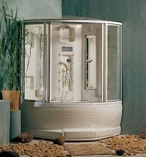 whirlpool tubshower combo with steam feature to make it your own steamroom
