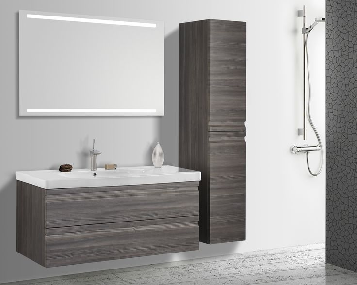 Foiled carcasses and fronts gives you bathroom furniture that is fully protected against water and moisture.