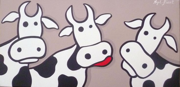 Oh les vaches !.. - 40x20 - 60€