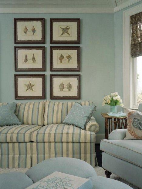 Greeley Blue Beach Living Room