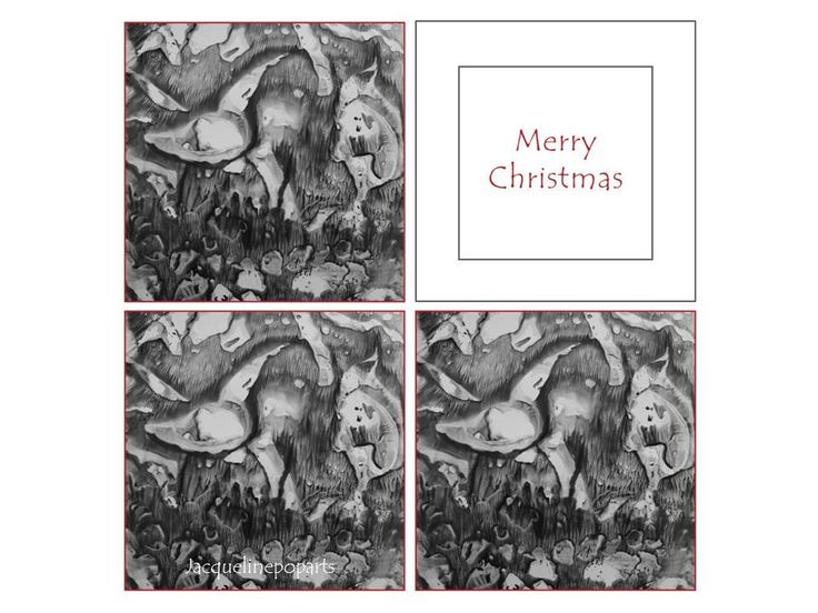 Christmas Angel, encaustic art christmas card by JacquelinePopArts