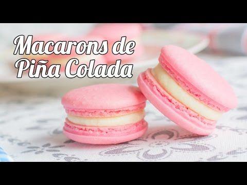 Macarons de Piña Colada   #11 Mesa dulce para Baby Shower   Quiero Cupcakes! - YouTube