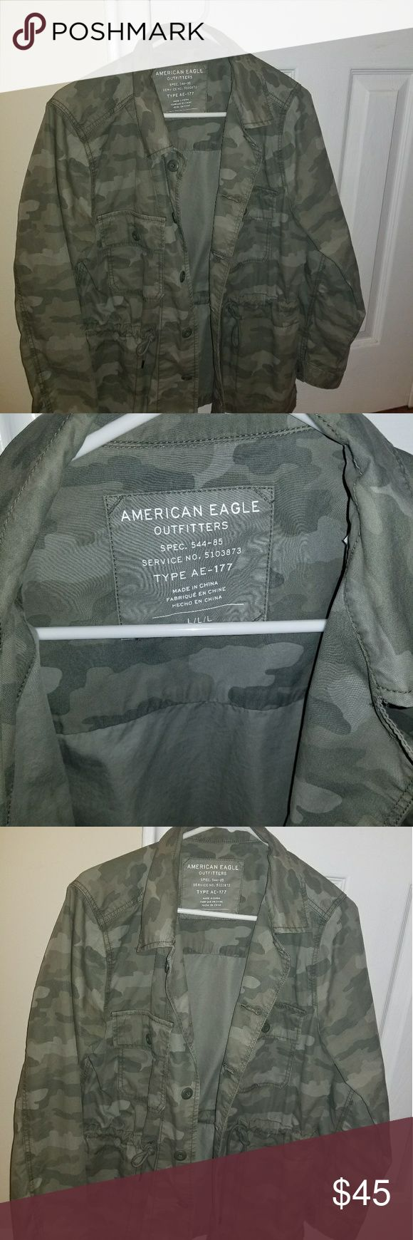 American Eagle Jacket 🔥🔥 Brand New🔥🔥  Never worn American Eagle army fatigue jacket. Cute for the fall or spring.   Best Offer American Eagle Outfitters Jackets & Coats