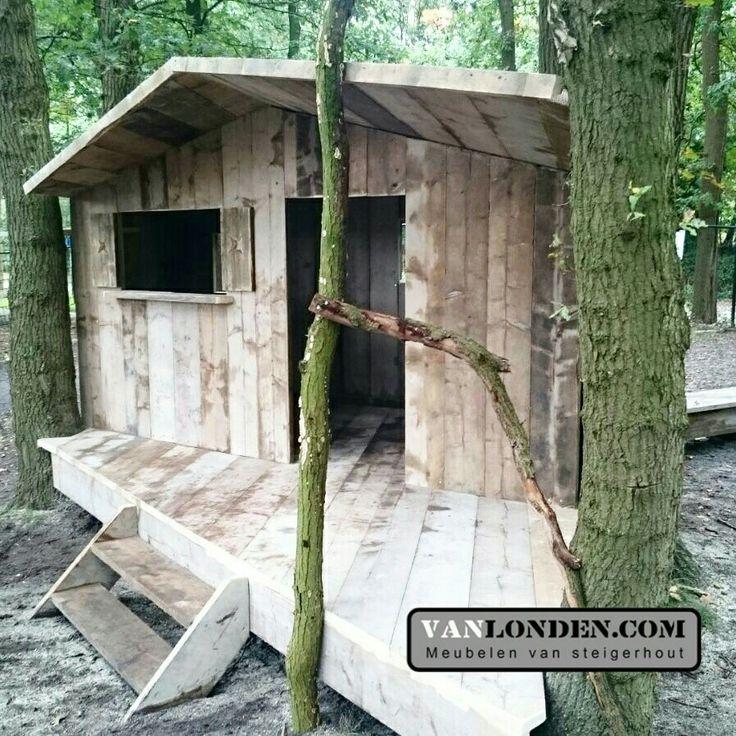 Speelhuis van steigerhout op maat gemaakt www for Steigerhout op maat