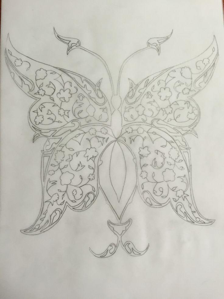 Tezhip- kelebek- sanat