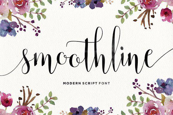 Smoothline Script by Areatype on @creativemarket