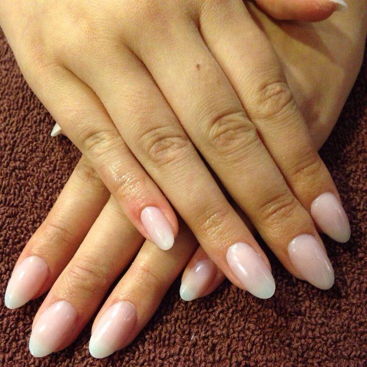 Natural acrylic nails #acrylic #natural #oval