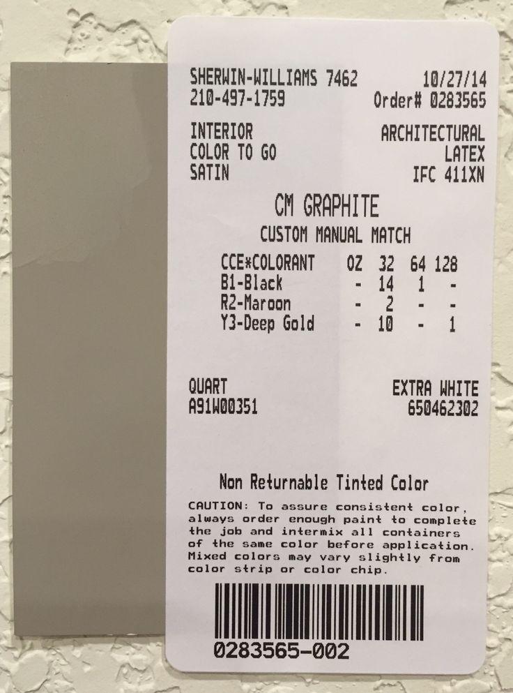 Restoration Hardware Paint Custom Color Match - Graphite