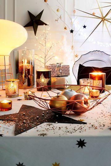 Une déco de table de Noël pas gnangnan - CôtéMaison.fr