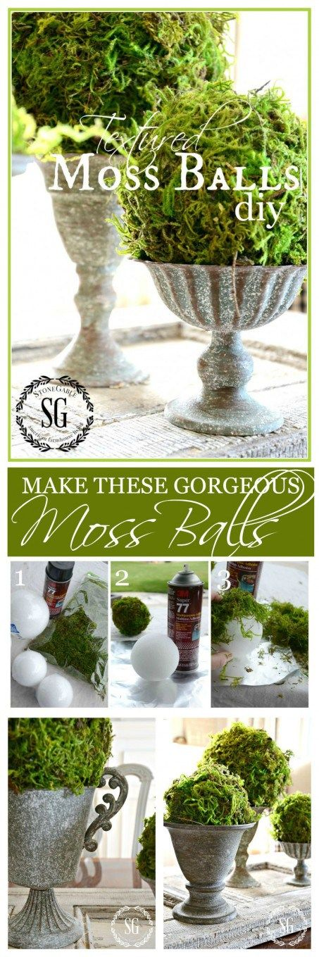 TEXTURED MOSS BALL DIY