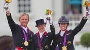 Team GB's gold-medal winning dressage team