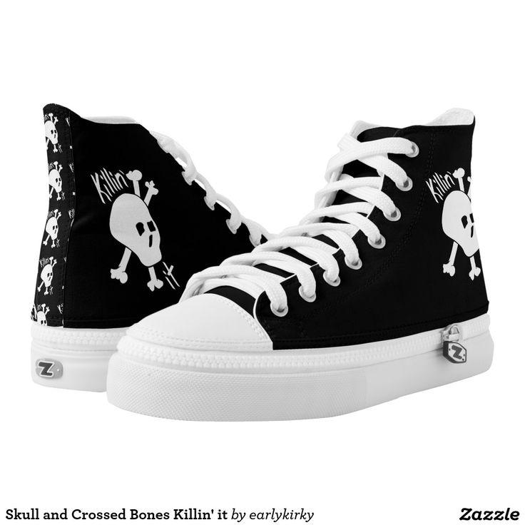 Skull and Crossed Bones Killin' it Printed Shoes