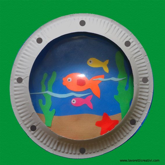Lavoretti Estate per bambini Fondale marino
