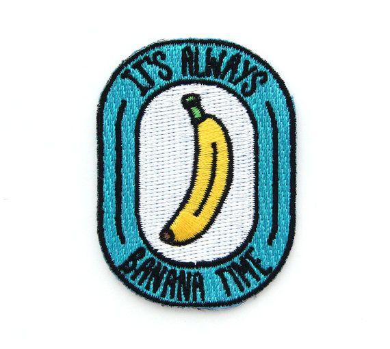 Banane Mal Eisen auf Patch von MokuyobiThreads auf Etsy