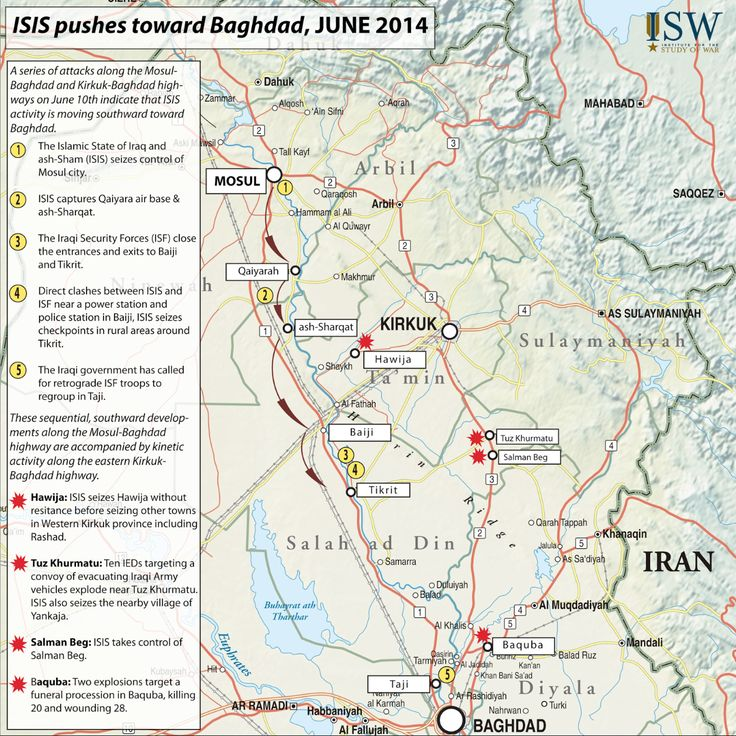 Isis S March South Through Iraq June 2014