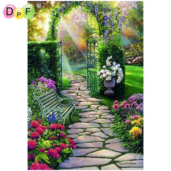 Diamond embroidery garden  diamond paintings Cross Stitch home decor #
