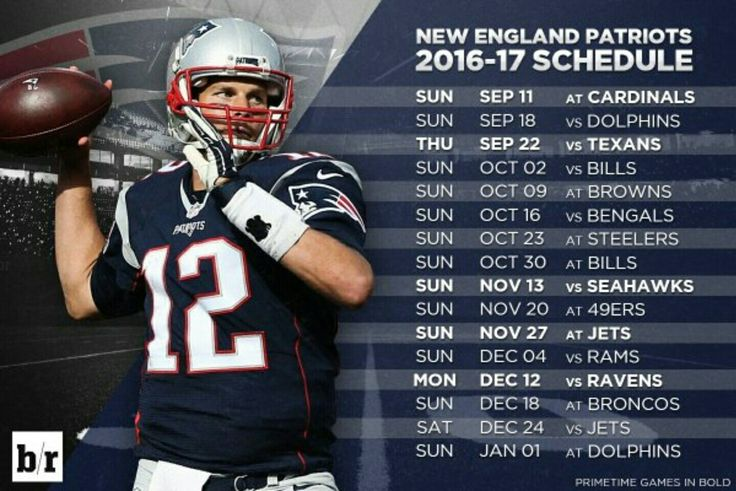 New England Patriots 2016-2017 schedule