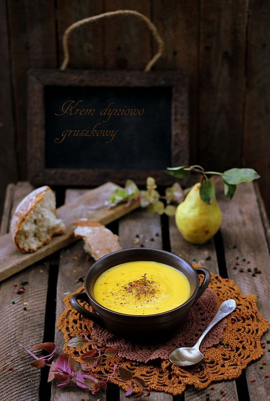 Krem dyniowo gruszkowy (pumpkin pear soup) - English translation at the bottom