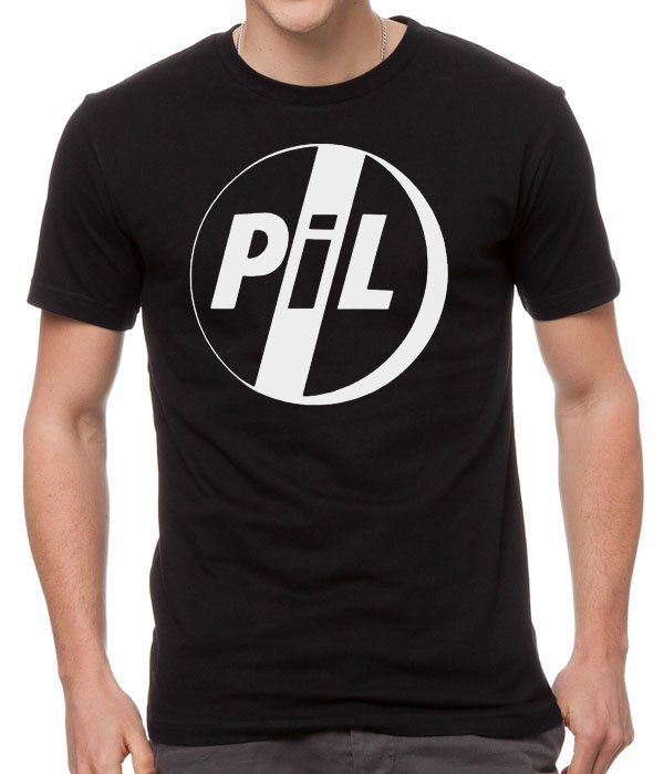 PIL+PUBLIC+IMAGE+LIMITED+Black+Men+Tshirt