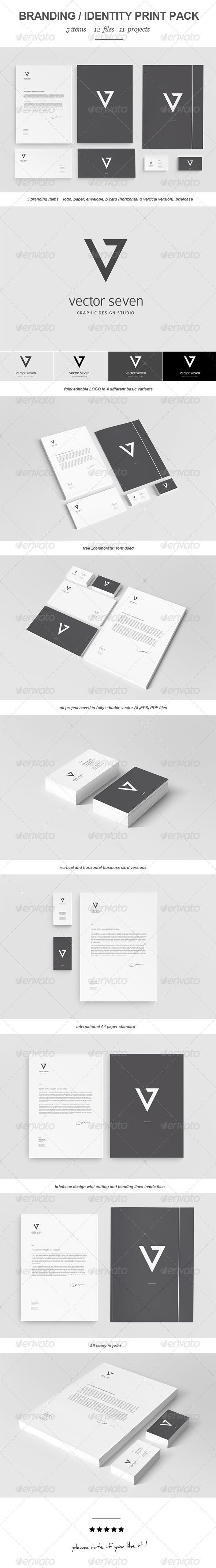 Branding Print Pack, minimalist and elegant set of visual identification system. Fully editable vector files allow you to adapt the design to suit your needs.