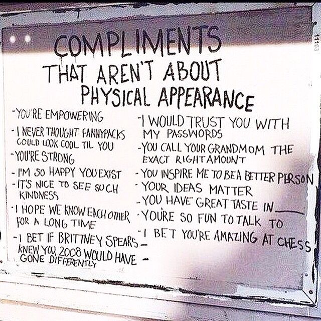 I'm so happy you exist  Give someone a compliment today- it'll make big if you feel great! xx