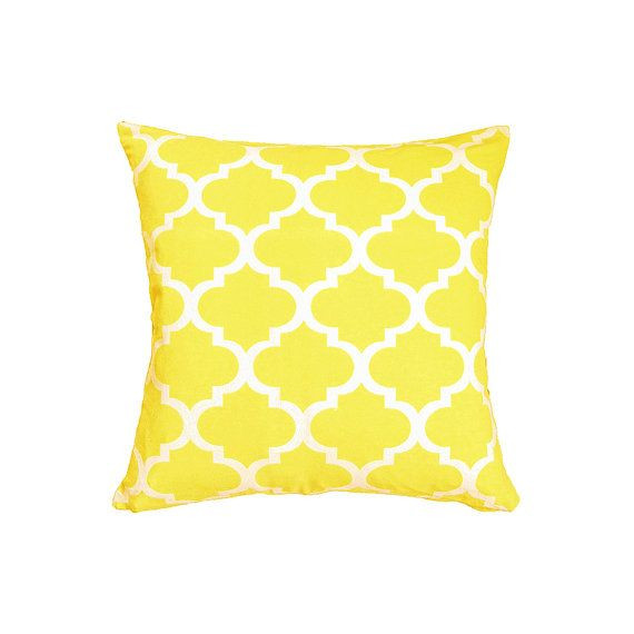 Yellow Cushion Cover Yellow Pillow Cover by LittleSewingStudio