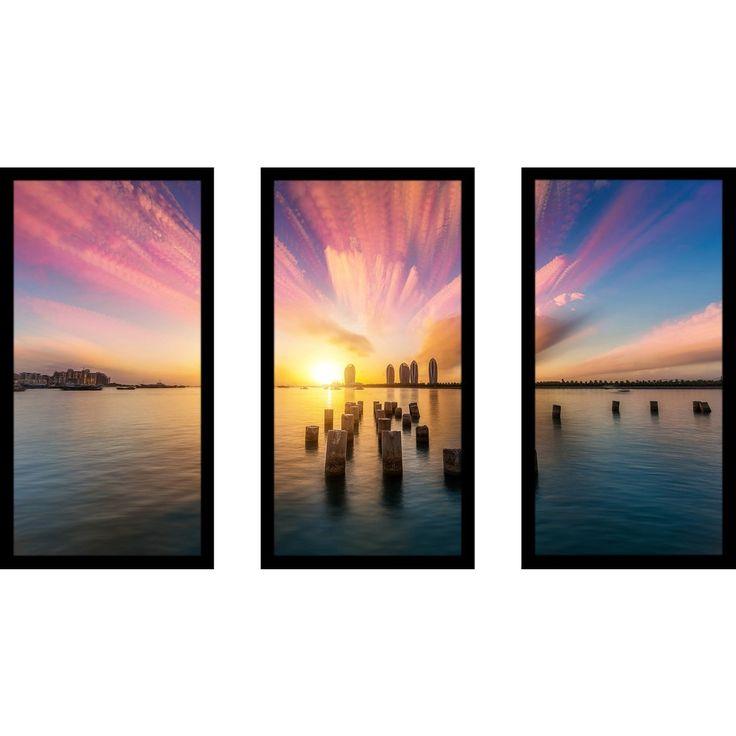 Picture Perfect International Sanya Hainan Phoenix Island' Framed Plexiglass Wall Art