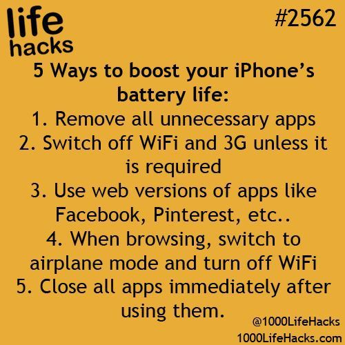 DIY Life Hacks & Crafts : Boost Iphone battery life Ophelia Ryan