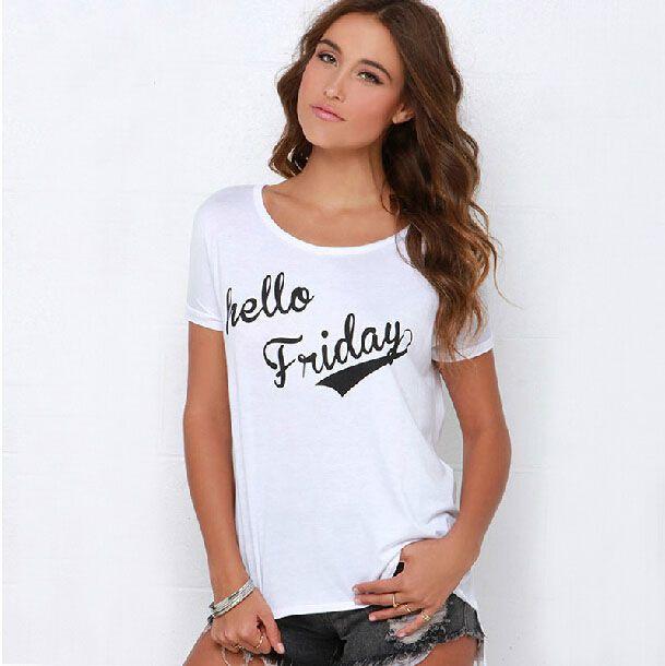 Хорошее quanlity девушка женщины леди панк рок мода tshirt письмо три четверти рукав белый лето большой размер свободного покроя футболка S 2XL купить на AliExpress