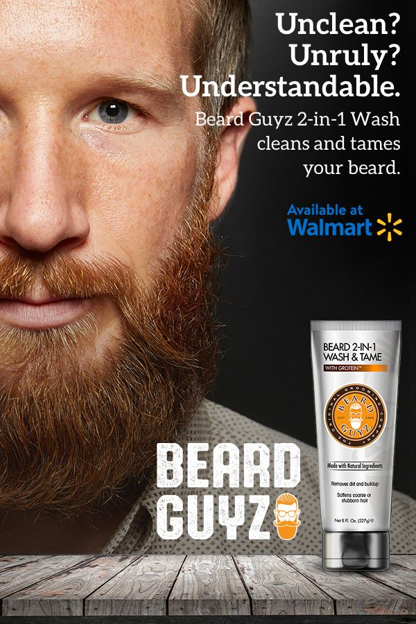 Beard Guyz 2-in-1 Wash cleans and conditions your beard  Now at your