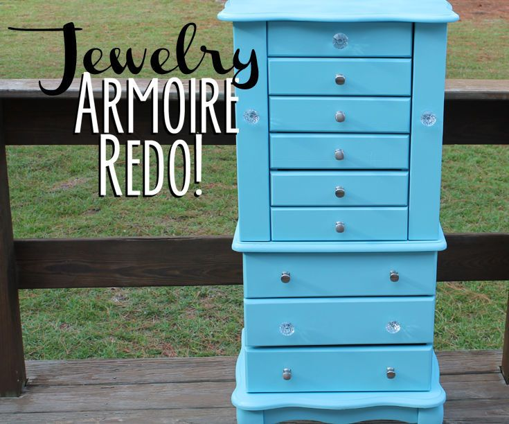 best furniture makeovers from favorite bloggers see more jewelry armoire redo