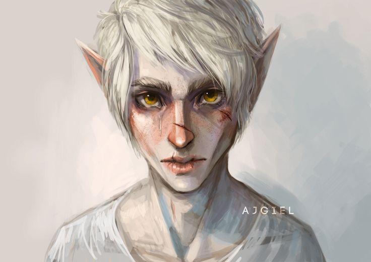 Pale elf by Ajgiel on DeviantArt