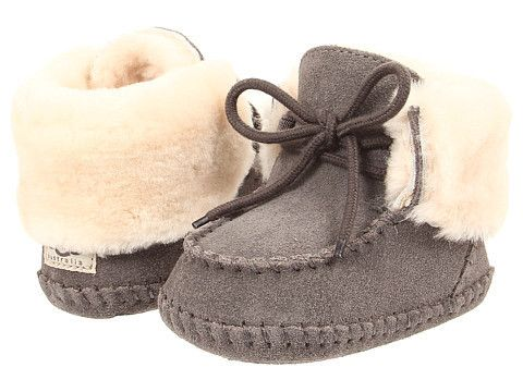 """Ugg: Baby Sparrow Bootie Infant/Toddler (Grey) Enter Code: """"15SHOP"""" at Checkout at http://www.littlefeetshoes.com  for 15% off Prices."""