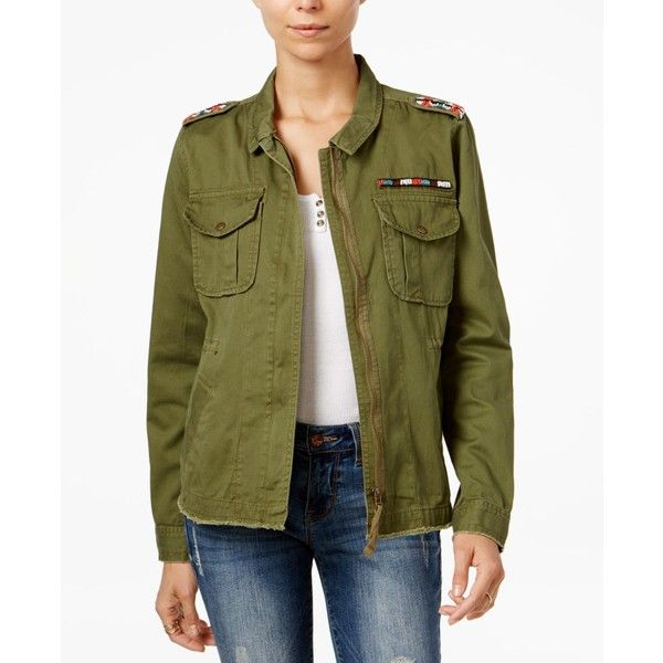 Velvet Heart Zuma Military Jacket ($98) ❤ liked on Polyvore featuring outerwear, jackets, olive, green velvet jacket, army green military jacket, olive army jacket, field jacket and layered jacket