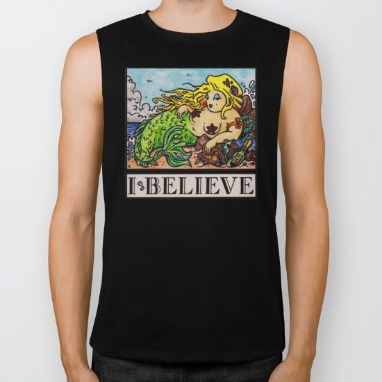"The ""I Believe"" Illustration Collection by Vernon Fourie is available at society6.com/vernonfccstudio as T-Shirts, V-Neck T-Shirts, Long Sleeve T-Shirts, Tank Tops, Biker Tanks, Hoodies, Throw Pillows, Tote Bags, Art Prints & Coffee Mugs. Our Biker Tank, made exclusively for Society6, is an edgier take on the traditional Muscle Tank. It's crafted using extremely soft 100% combed jersey cotton with deep arm openings and raw cut edges. The Biker Tank is a boyfriend fit, intended to hang loose…"