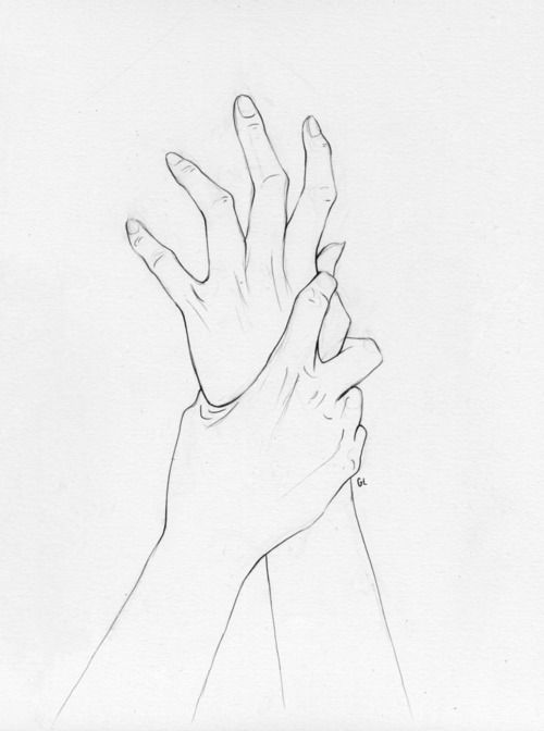 I want to draw this but the hand grabbing the other hand is a zombie