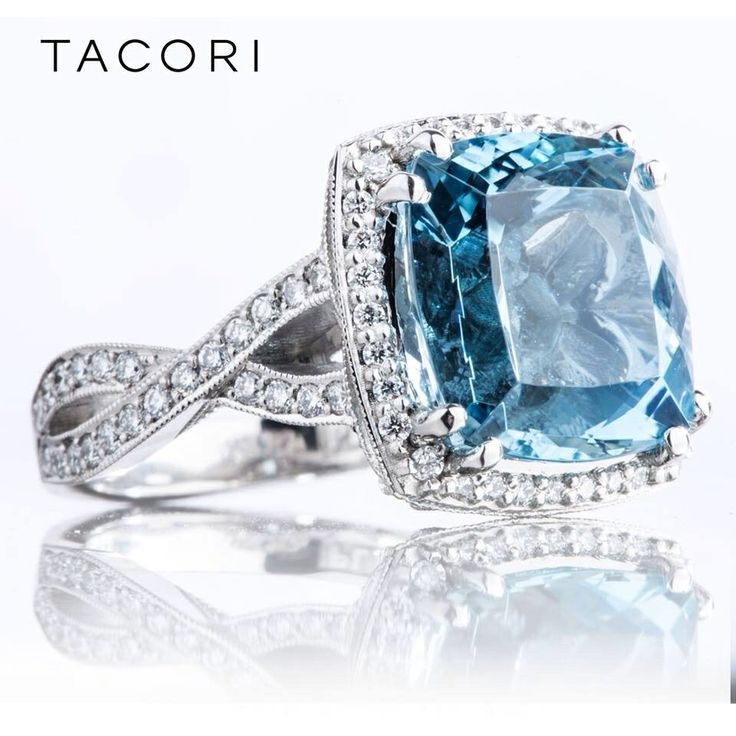 Tacori blue diamond ring!  .... love it! ~ 35 Gorgeous Diamonds - Style Estate -