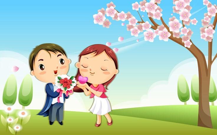 55+ Wallpaper Kartun Cinta Romantis Terbaru | Bangiz