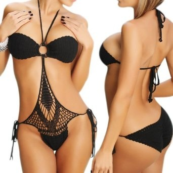 Sexy One Piece Scrunch Bottom: Pieces Scrunch, Crochet Bath Suits, Size Black, Scrunch Bottoms, Bottoms Style, Locomo Sexy, One Pieces, Tans Line, Style Crochet