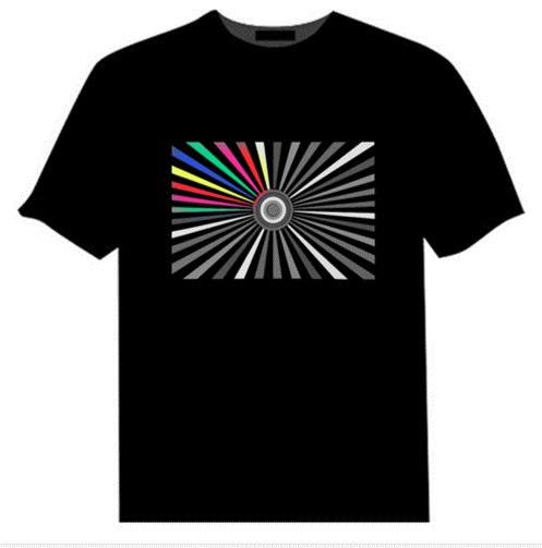 LED shirts that lights up based on surrounding music. These shirts will enrich your experience and give you that unique look to stand out in the crowd.