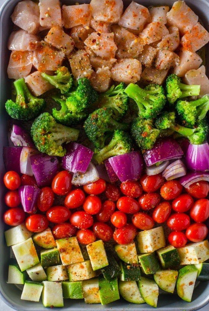 Eine Pfanne, Blech Pfanne Abendessen! Ich bin so aufgeregt dafür! Ich bin immer auf der Suche nach …   – Healthy food