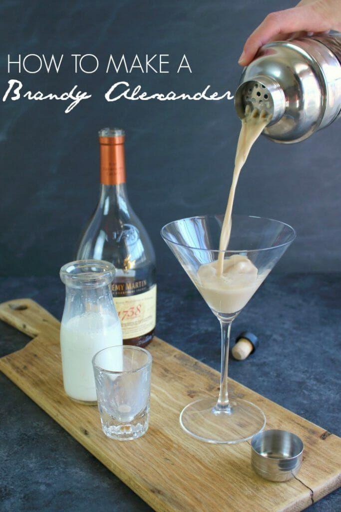 How To Make A Brandy Alexander Brandy Alexander Brandy