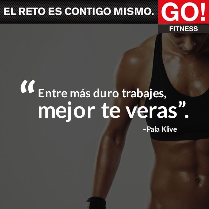 Pala Klive. #gofitness #clasesgo #ejercicio #gym #fit #fuerza #flexibilidad #reto #motivate #frases #palaklive