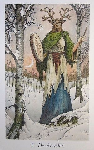 The Hierophant from the Wildwood Tarot