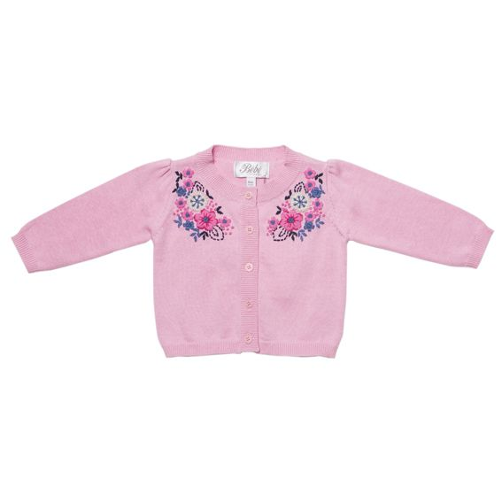 Harper embroidered cardigan http://www.nestling.com.au/sale---winter-clothing-c115/girls-c54/bebe-harper-girls-pink-embroidered-cardigan-p1159/